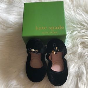 Kate Spade Crushed Velvet Foldable Ballet Flats